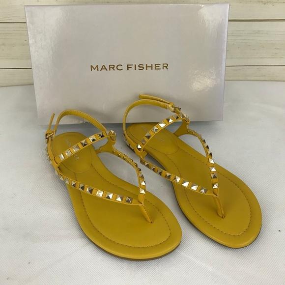 Marc Fisher Pamali Studded Flat Sandals